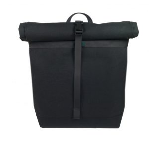 Small Basic Backpack roll top, Black