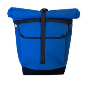 Small Basic Backpack (roll top) Blue, Black