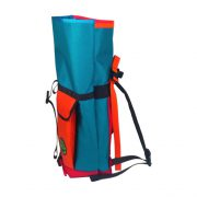 Small Basic Backpack (roll top) Turquoise, Orange, Red