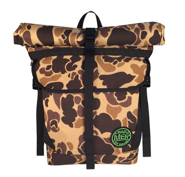 Small Basic Backpack (roll top) Autumn Camo/Light Blue