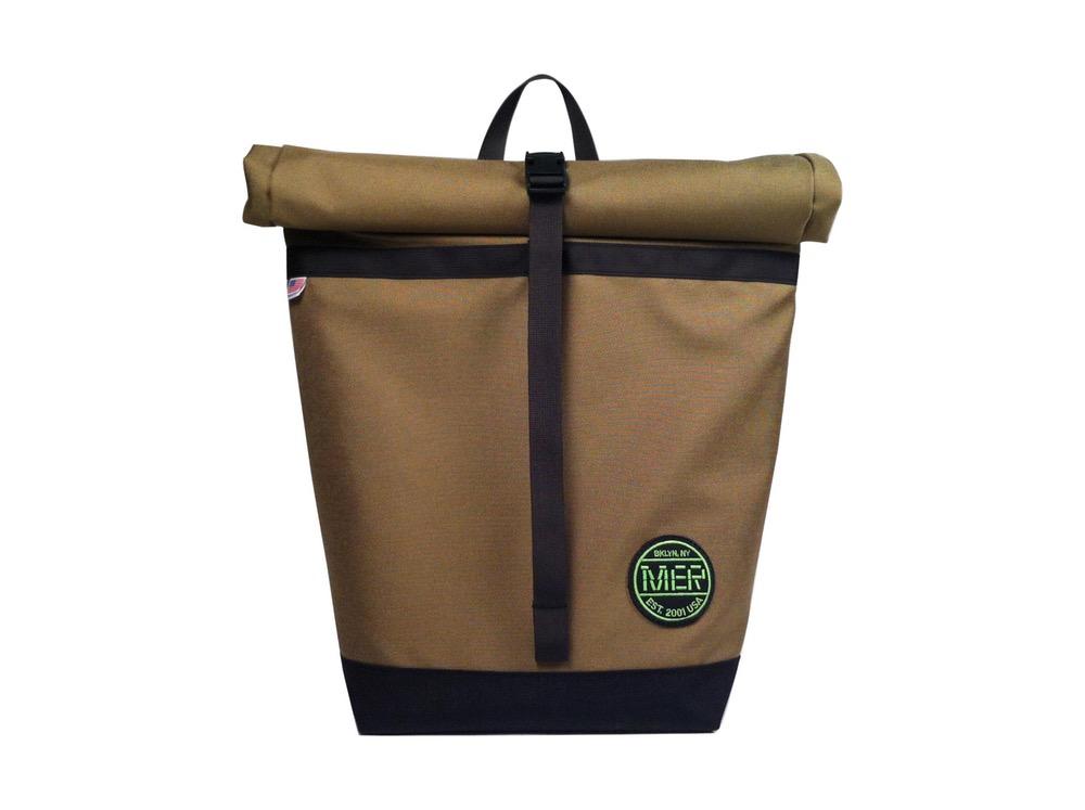 Small Basic Backpack Roll Top Tan Black Mer Bags