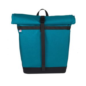 Small Basic Backpack (roll top) Turquoise, Black