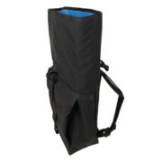 Small Basic Backpack rolltop Black (side)